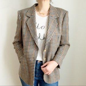 Jackets & Blazers - Aquascutum Wool Tan Bleu Blazer Jacket Size 12